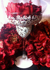 BRIDE SWIRL MARGARITA GLASSES