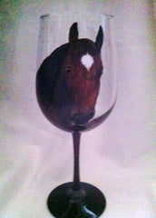 HORSE PORTRAIT WINE GLASS