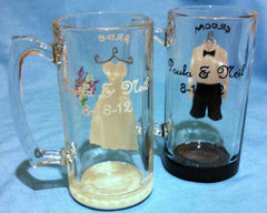 BRIDE & GROOM BEER MUGS