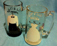 BRIDE & GROOM GLASSES