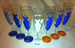 BRIDAL PARTY GLASSES 7 glasses