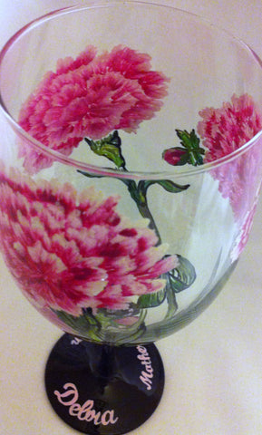 PINK CARNATION WINE GLASS