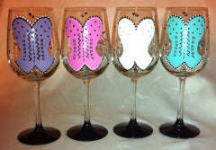 BOUSTIER BACHELORETTE WINE GLASSES