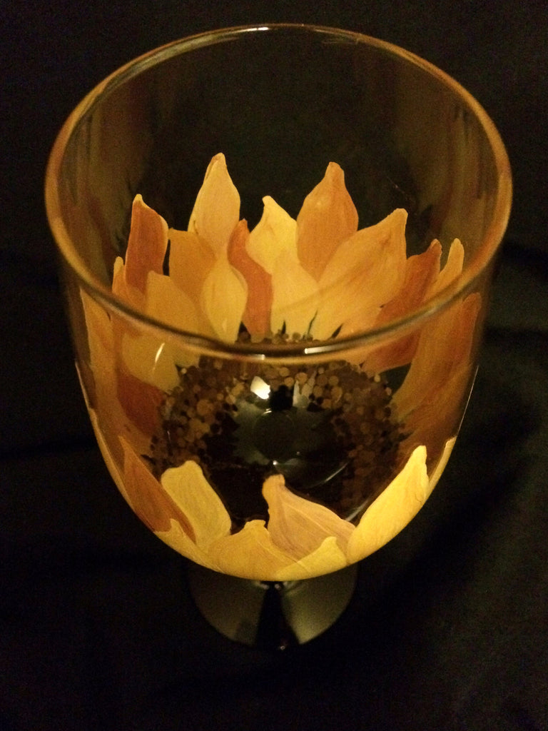 SUNFLOWER WINE GLASS