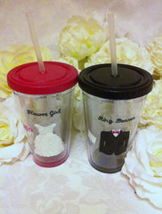 HAND PAINTED WEDDING TUMBLERS
