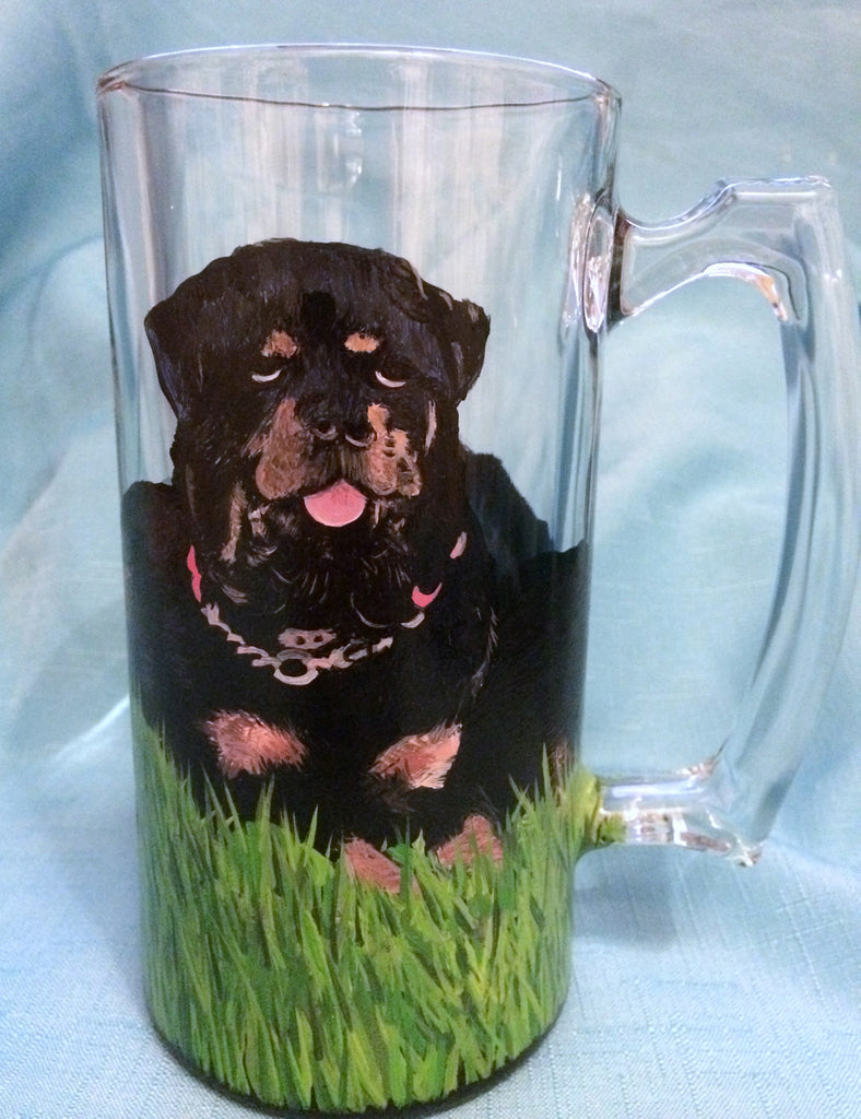 HAND PAINTED BULLMASTIFF MUG