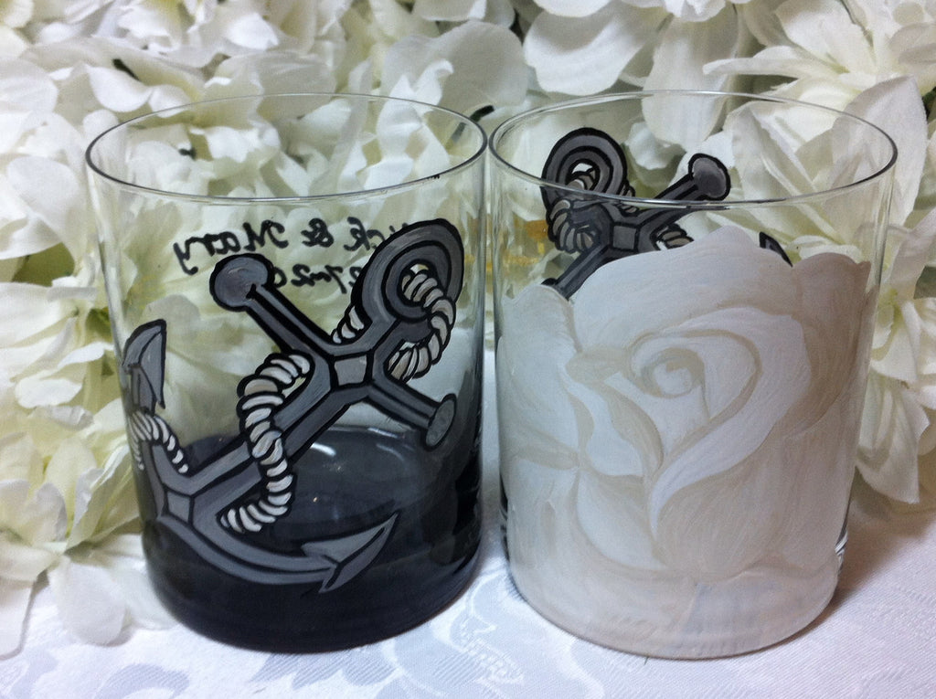 CUSTOM DESIGN  WEDDING GLASSES