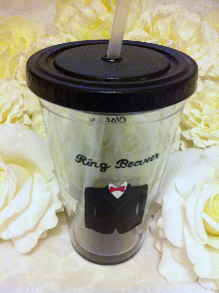 PLASTIC TUMBLER FOR RING BEARER