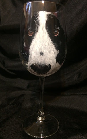 Copy of SPRINGER SPANIEL WINE GLASS