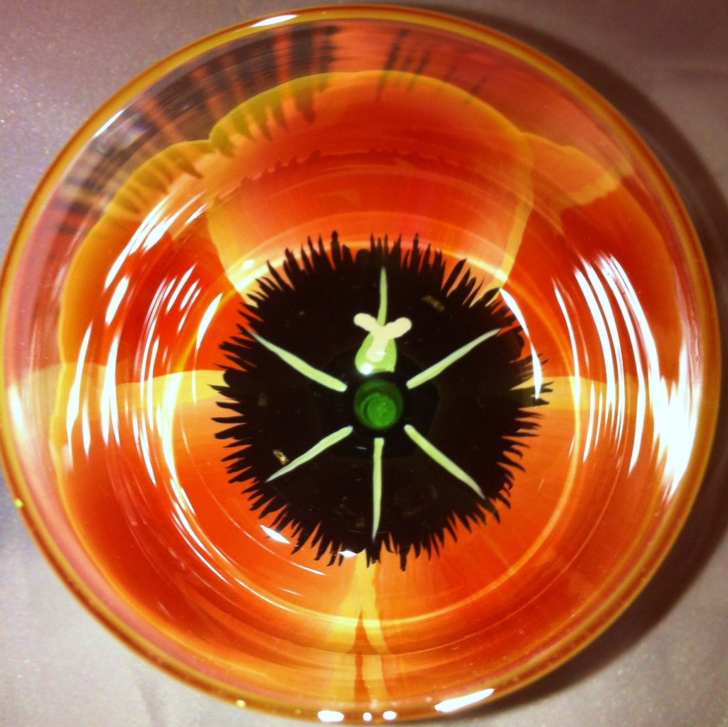 SUNSET TULIP WINE GLASS
