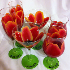 SUNSET TULIP MARTINI GLASSES Set of 4 glasses