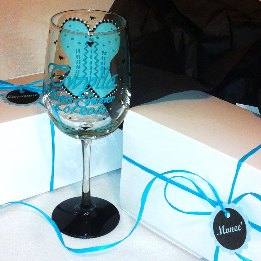 BOUSTIER WINE GLASS WITH GIFT BOX