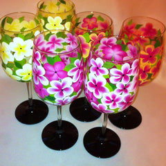 PLUMERIA WINE GLASS Set of 6
