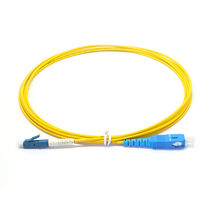 SC UPC to LC UPC Simplex G657A1 Singlemode LSZH 3.0mm Fiber Optic Patch Cable