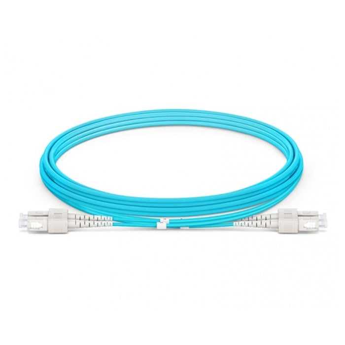 SC UPC to SC UPC Duplex Multimode OM3 3.0*6.0mm Zip-cord Fiber Optic Patch Cable PVC (OFNR) AQ