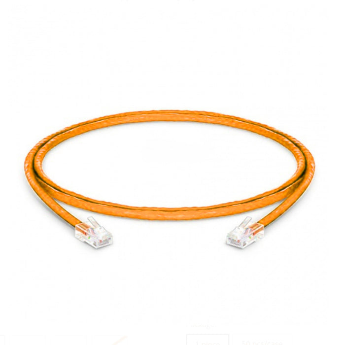Cat6 Non-booted 24 AWG PVC CM 1FT Ethernet Network