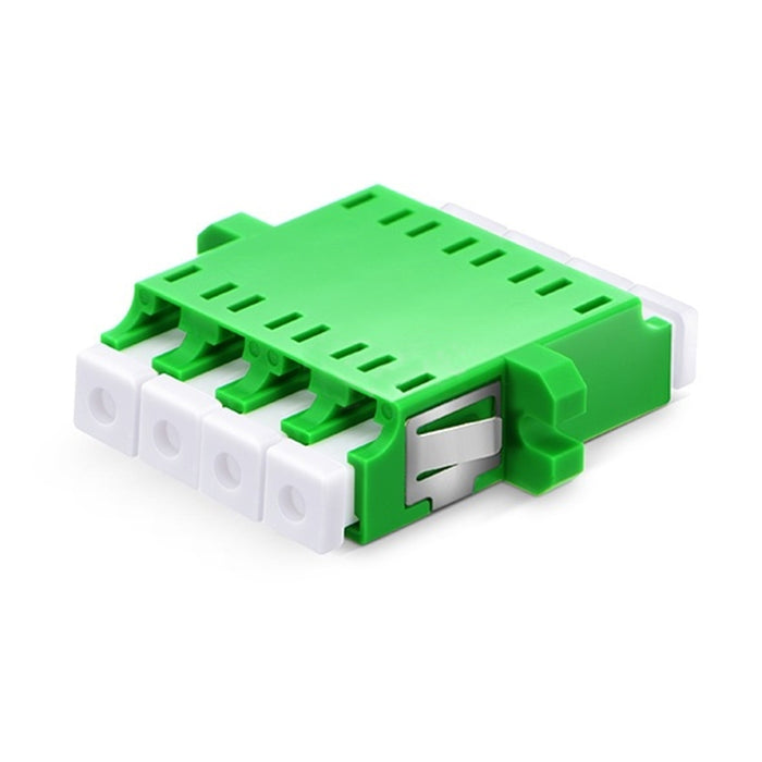 Quad Single Mode Fiber Optic Adapter with Flange