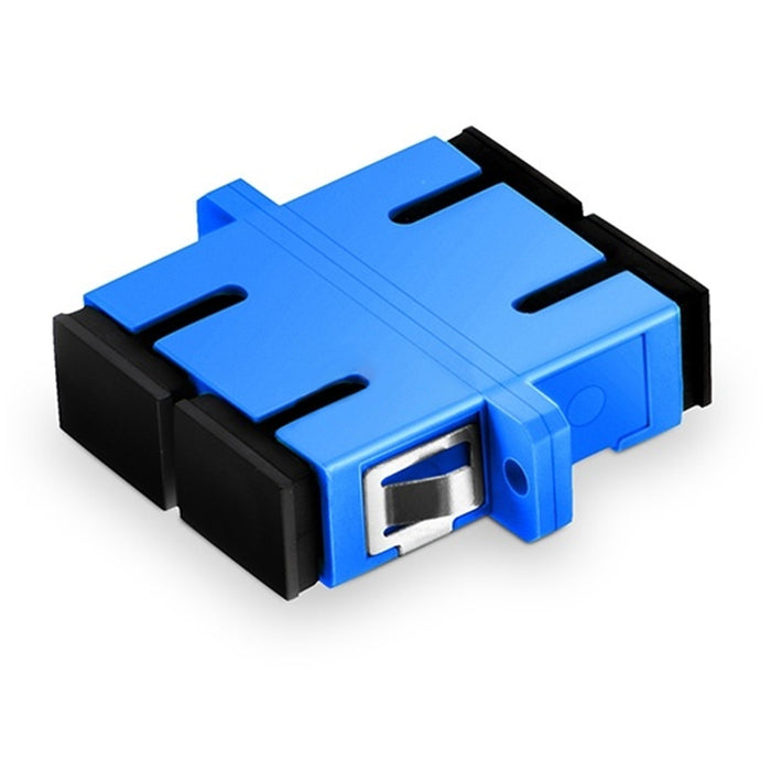 Duplex Single Mode Fiber Optic Adapter with Flange