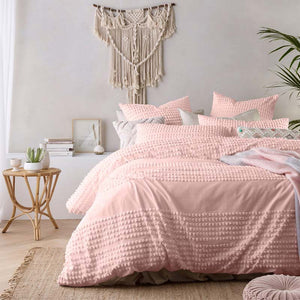 Vintage Design Betty Blush Quilt Cover Set - Manchester Factory (5429173420076)