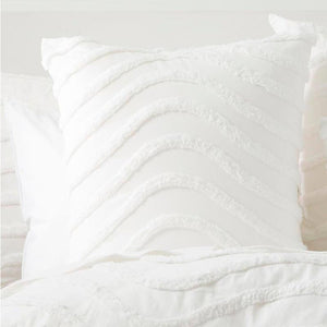 Cloud Linen Wave Cotton Chenille White Vintage Washed European Pillowcase - Manchester Factory (5408510738476)