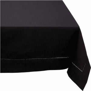 Rans Elegant Hemstitch Black Tablecloth - Manchester Factory