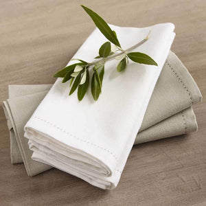 Rans Elegant Hemstitch Oatmeal Tablecloth - Manchester Factory