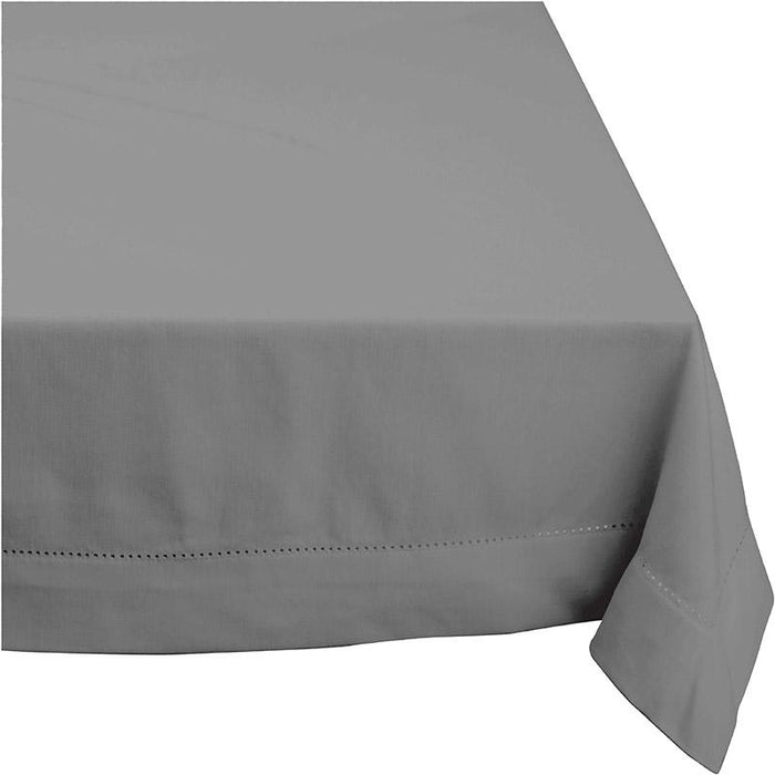 Rans Elegant Hemstitch Grey Tablecloth