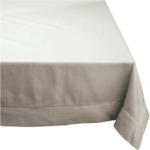 Rans Elegant Hemstitch Oatmeal Tablecloth - Manchester Factory (4966900695084)