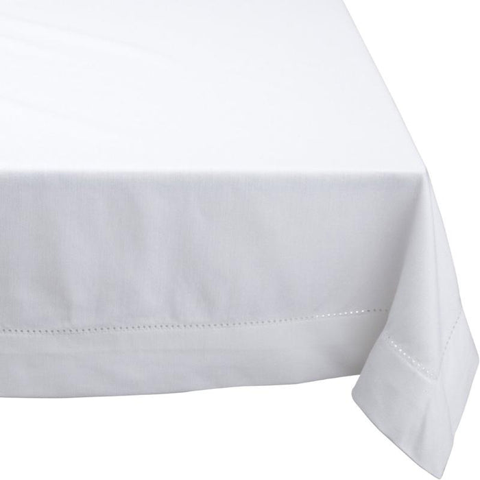 Rans Elegant Hemstitch White Tablecloth