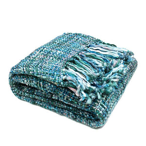 Knitted Oslo Cool Pool Throw Rug - Manchester Factory