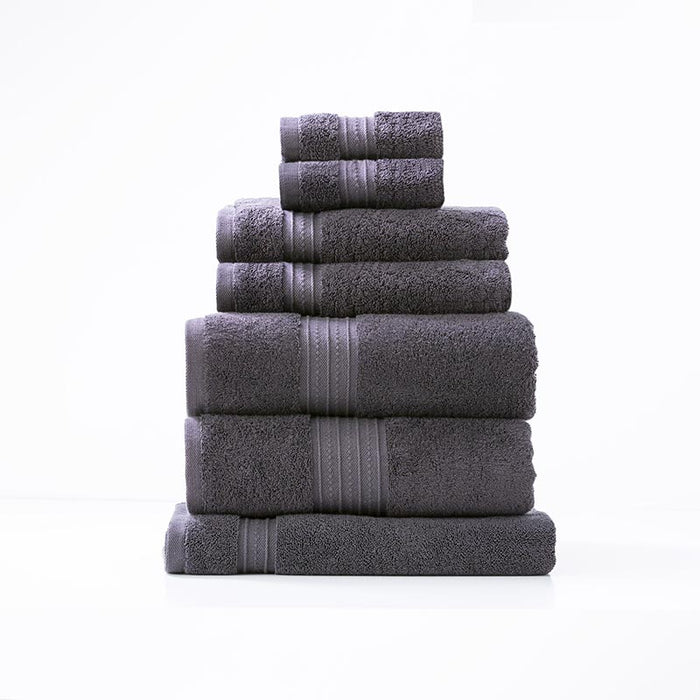 Renee Taylor Brentwood 7 Piece Carbon Bath Towel Pack