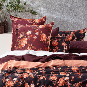 Renee Taylor Florence Plum European Pillowcase - Manchester Factory (5441519157292)