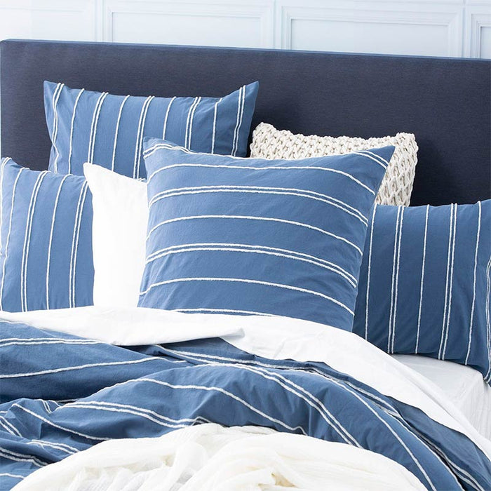 Renee Taylor Hudson Blue European Pillowcase