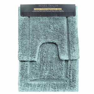 Renee Taylor 2 Piece Cotton Bath Mat Set - Manchester Factory