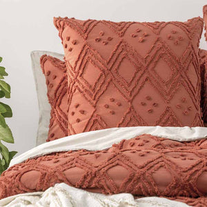 Renee Taylor Medallion Cotton Vintage Washed Auburn European Pillowcase - Manchester Factory
