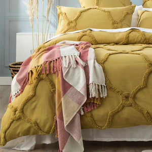 Renee Taylor Moroccan Cotton Chenille Willow Quilt Cover Set (6563470704684)