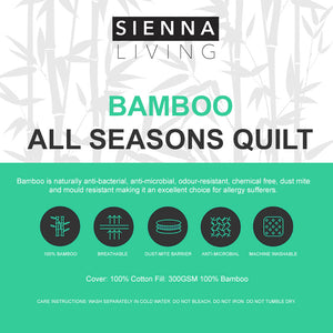 Sienna Living All Seasons Bamboo Quilt - Manchester Factory (5410623127596)