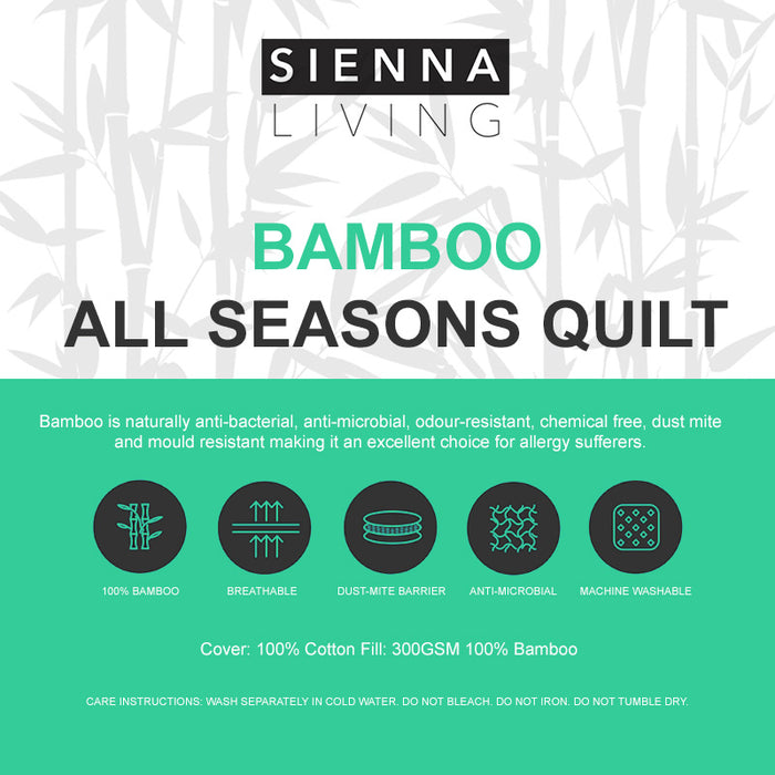 Sienna Living All Seasons Bamboo Quilt