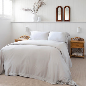 Sienna Living Bamboo Cotton 400 Thread Count Silver Quilt Cover Set - Manchester Factory (5448296988716)