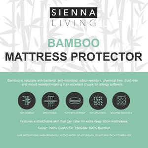 Sienna Living Bamboo Mattress Protector - Manchester Factory (5410637545516)