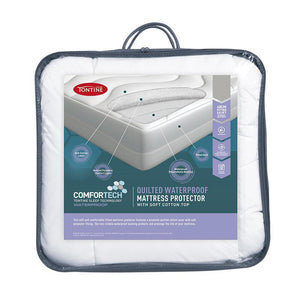 Tontine Comfortech Waterproof Quilted Fitted Mattress Protector - Manchester Factory