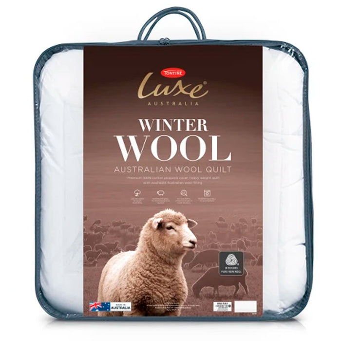 Tontine Luxe Australian Washable Wool Super Warm Quilt