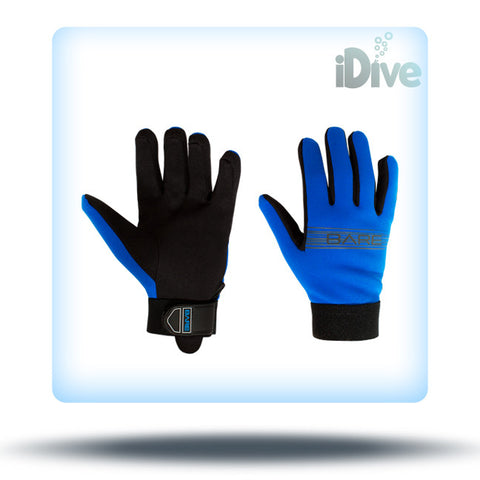 Bare blue dive gloves