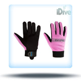 Bare pink dive gloves