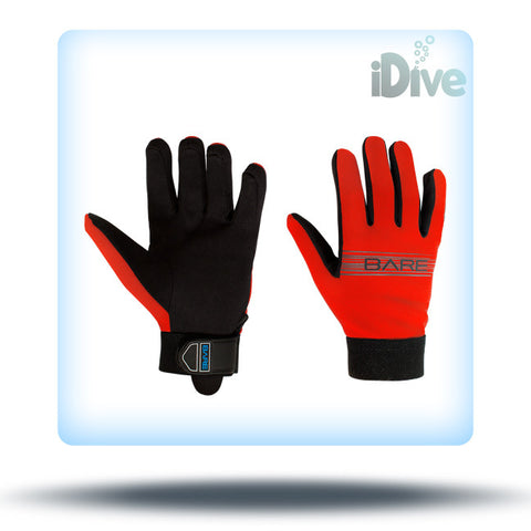 Bare red dive gloves