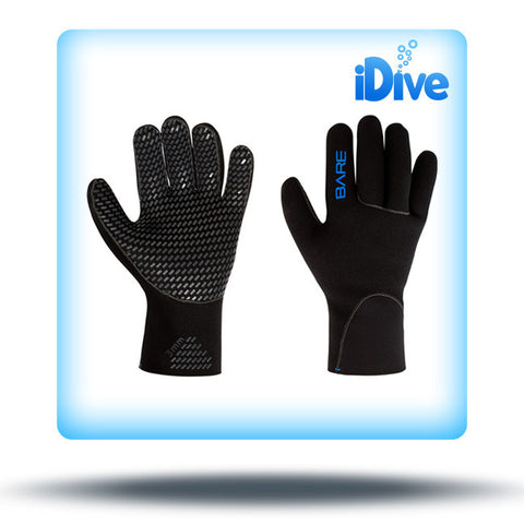 Bare 3mm Gloves, Black