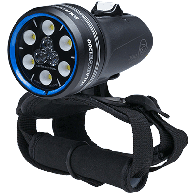 SOLA Dive 1200 (BLACK) by Light & Motion