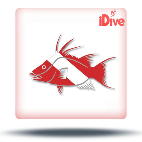 Hogfish Dive Flag Decal Sticker