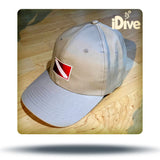Diver down flag hat khaki