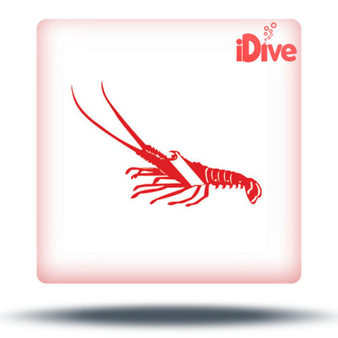 Lobster Scuba Dive Flag Sticker